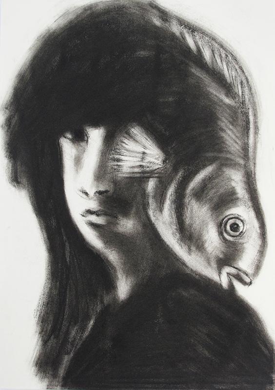 Estrangement Between Us 5, charcoal on paper, 21x29.7, 2011